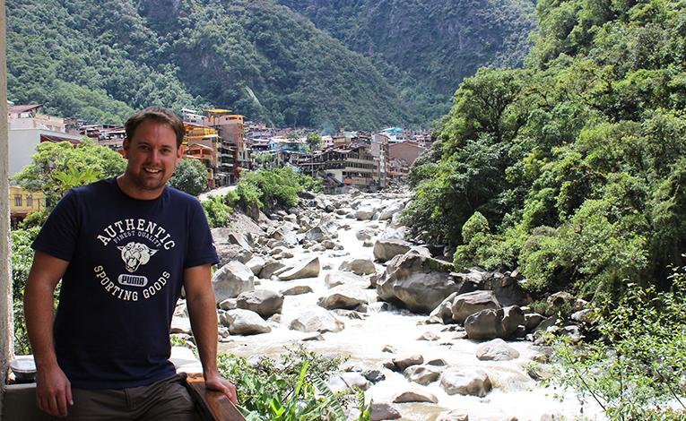 View of Aguas Calientes in Peru