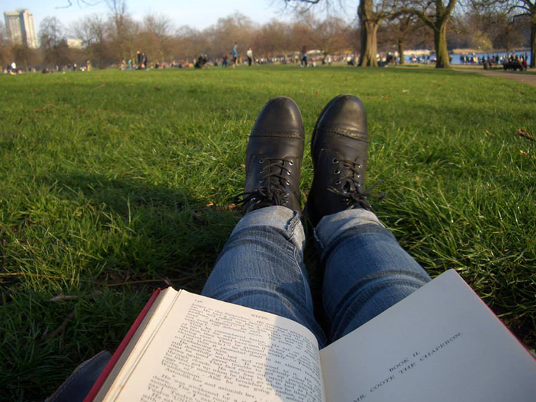 Reading in Hyde Park