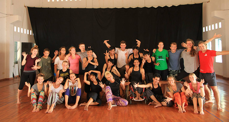 Arts dance workshop in Cambodia