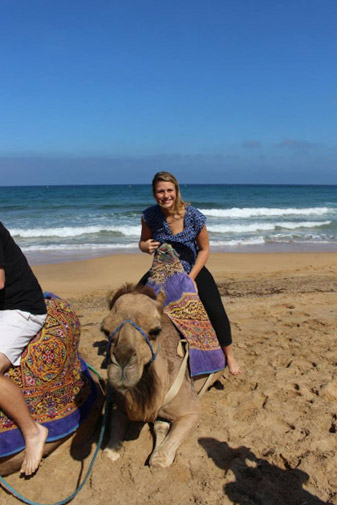 Camel Riding in Tanger, Morocco