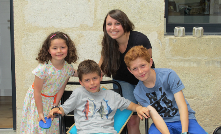 Aupair with French children