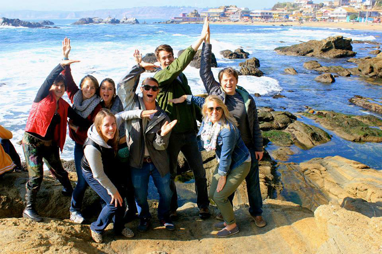 Study abroad students in Horcon, Chile