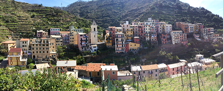 Mountain view of Cinque Terre, Italy
