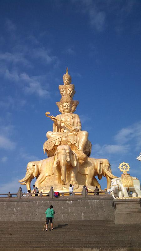 The statue of Puxian, a Buddhist bodhisattva.