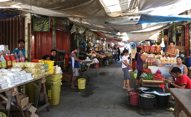 A market in Palo, Leyte, Philippines