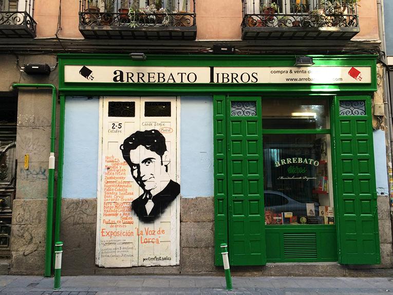 A book store in Malasaña, Madrid, Spain