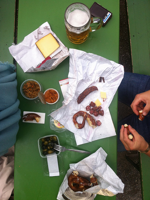 A picnic in Munich, Germany