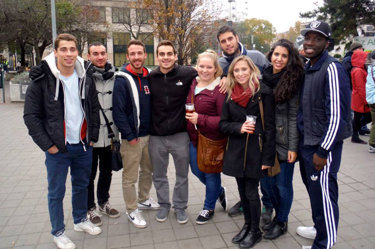 Study abroad students in Budapest, Hungary