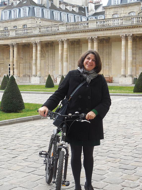 Biking to work in Paris, France