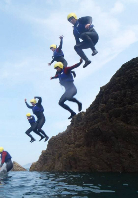 Cliff jumping in the UK
