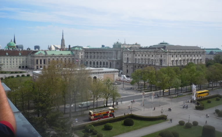 View of Vienna from the roof of the Naturhistorisches Museum