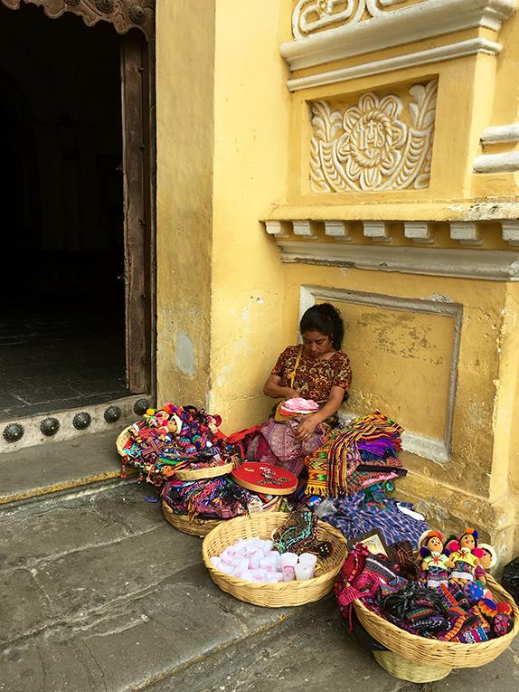 Guatemalan woman selling souvenirs