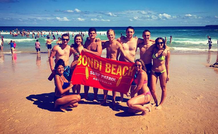 Celebrating Australia Day at Bondi Beach
