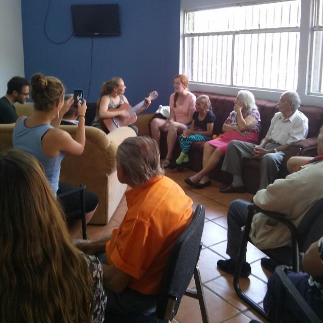 Volunteering at an elderly center in Costa Rica