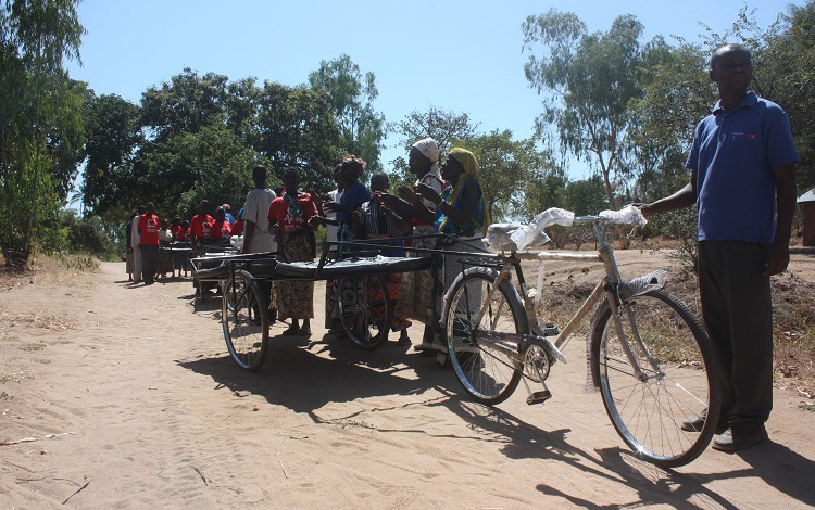 Bicycle ambulances in Malawi