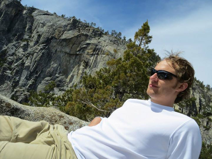 At the top of Yosemite Falls