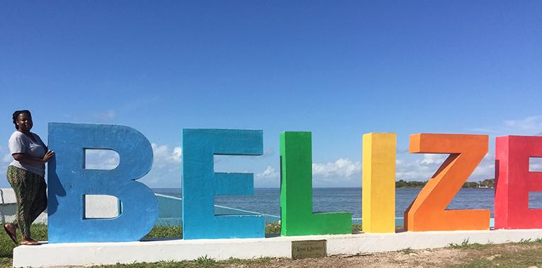 Belize sign in Belize City