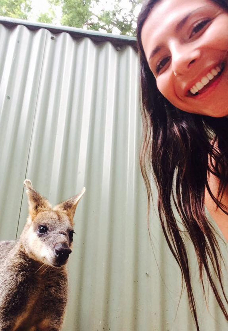 Selfie with a Joey in Australia
