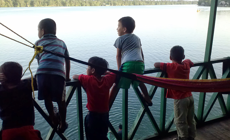 View of the Rio Dulce River in Guatemala