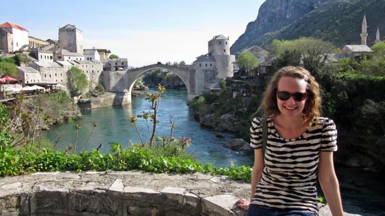 River view in Mostar, Sarajevo