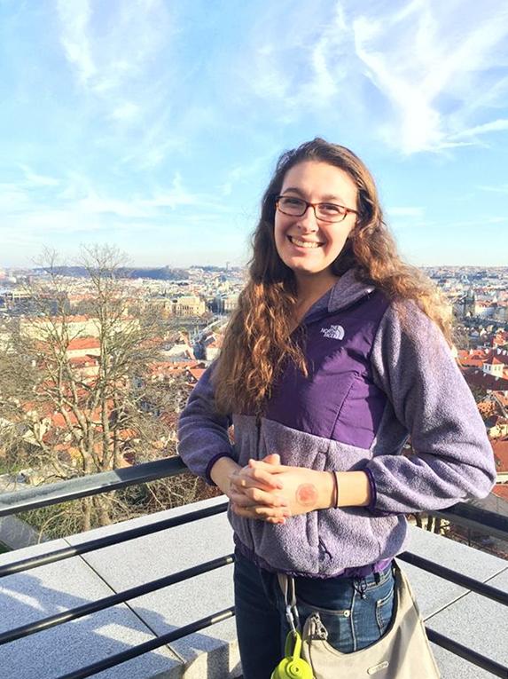 View from the highest hill in Prague, Czech Republic