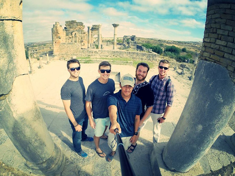At the top of the Roman Ruins in Volubilis, Morocco
