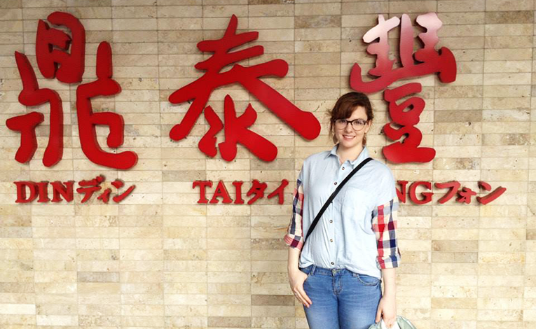 A woman at Din Tai Fung in Taipei, Taiwan