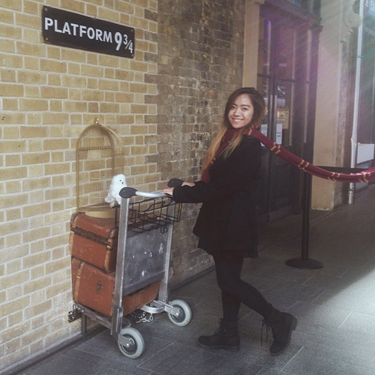 At Platform 9 ¾ in England
