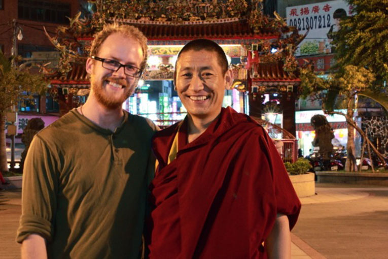 Foreigner with local man in Taiwan