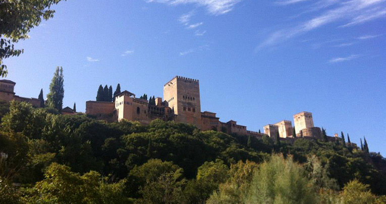 View of La Alhambra in Granada, Spain