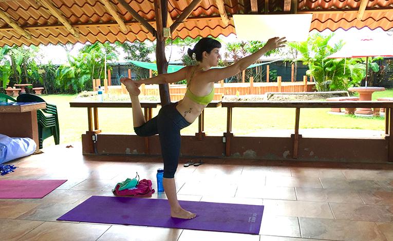 Yoga class in Samara, Costa Rica