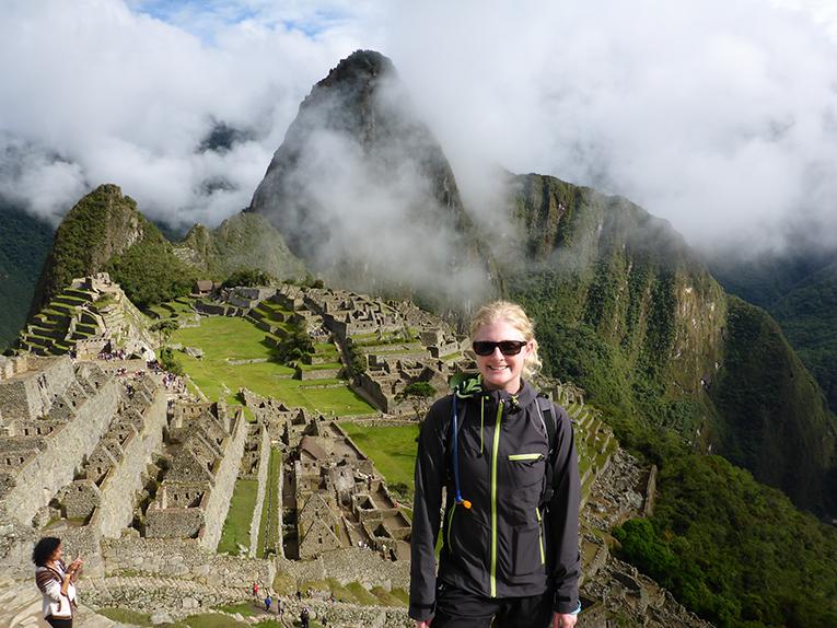 tourist at Machu Picchu, Peru