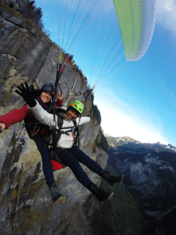 Paragliding in Interlaken, Switzerland