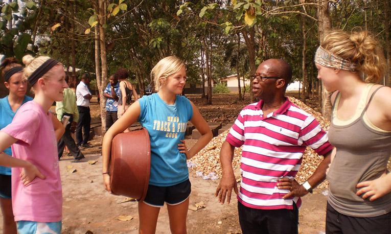 Volunteers in Ghana