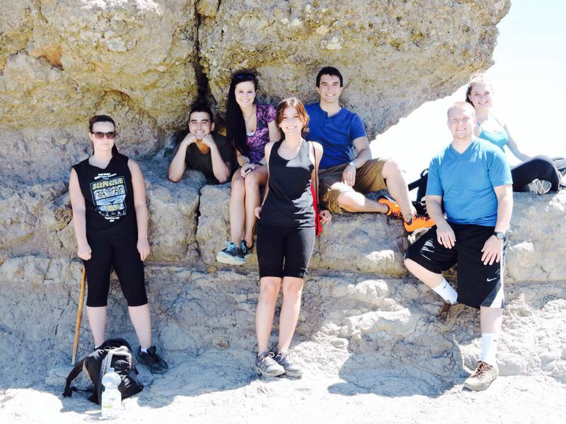 International interns at Roque Nublo in the Canary Islands
