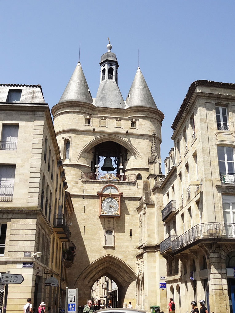 Medieval gate in Bordeaux, France