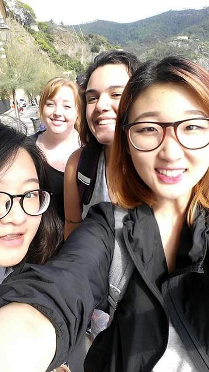 Selfie near Cinque Terre, Italy