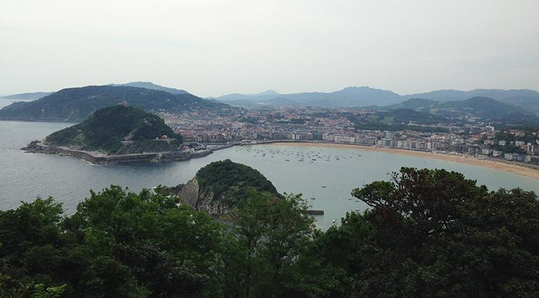 View of La Concha and San Sebastian, Spain
