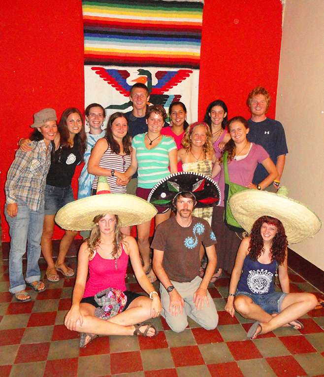 Foreign students dressed up for dinner in Nicaragua