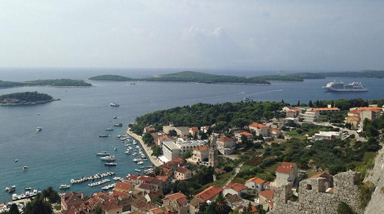 Overlooking the Croatian Coastline
