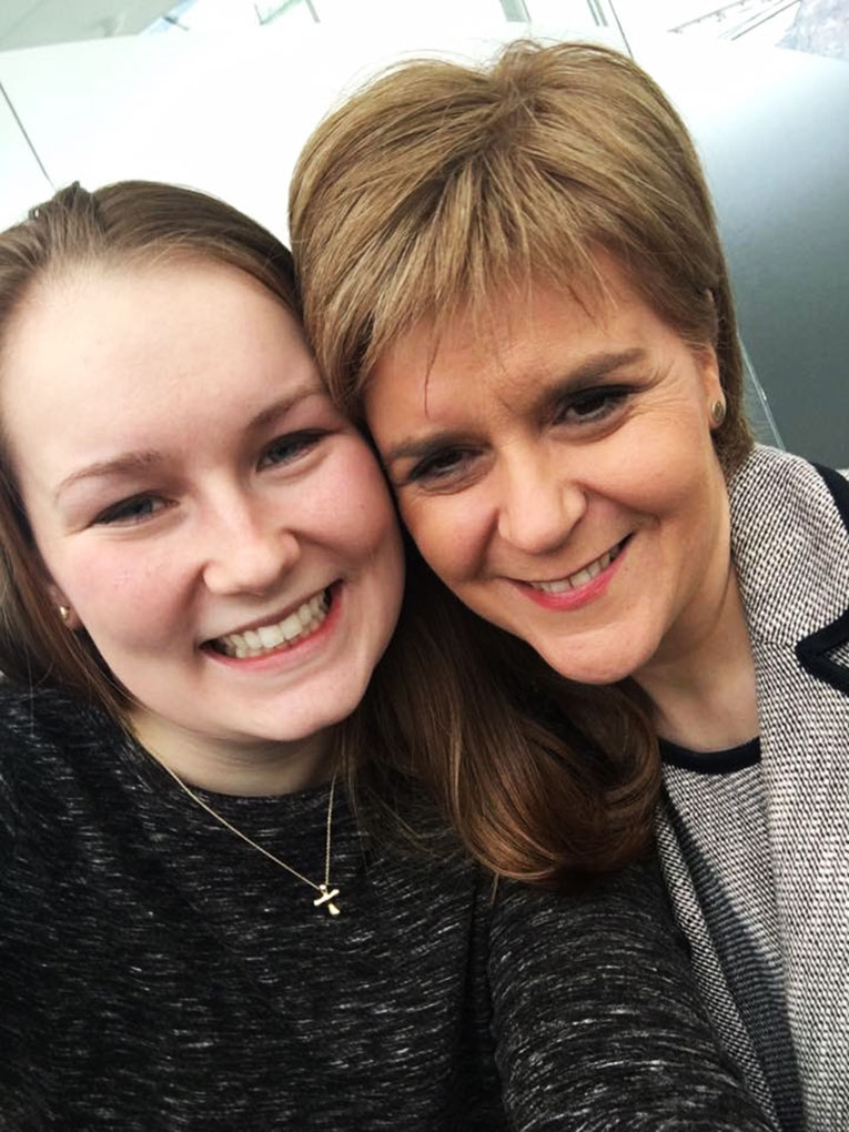Selfie picture with the First Minister of Scotland