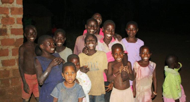 Happy children in Uganda