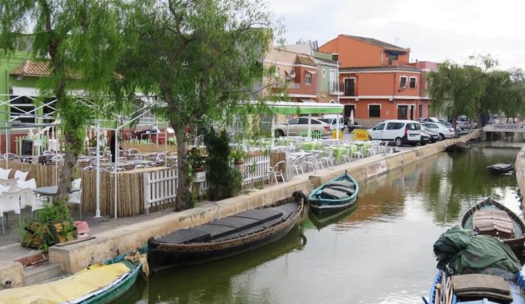 Canal in Albufera, Spain