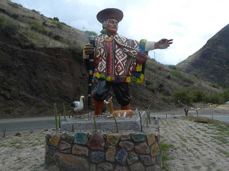 Statue near Machu Picchu in Peru