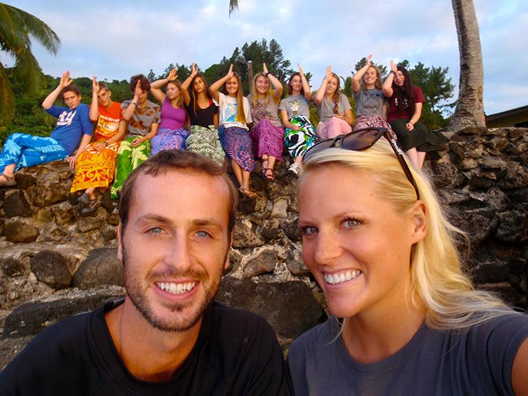 Study abroad students on Beqa Island