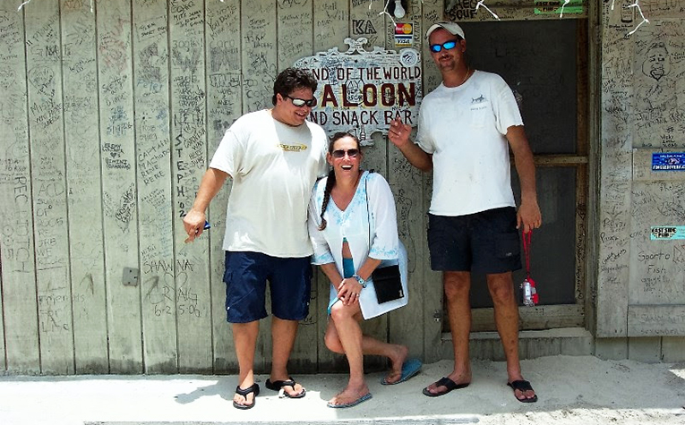At the End of the World Saloon in Bimini, Bahamas
