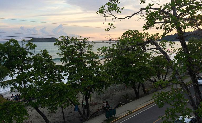 Sunset at Manuel Antonio Beach in Costa Rica