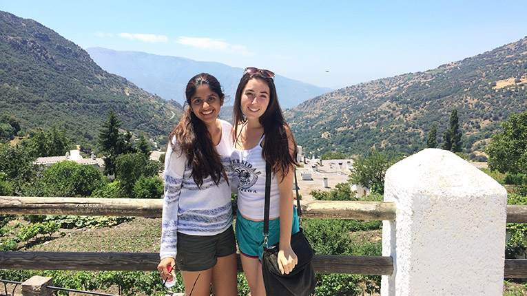 Study abroad students on a hike in Las Alpujarras, Spain