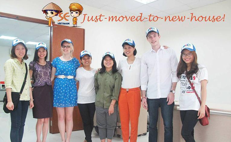 Student Exchange Vietnam participants at the office