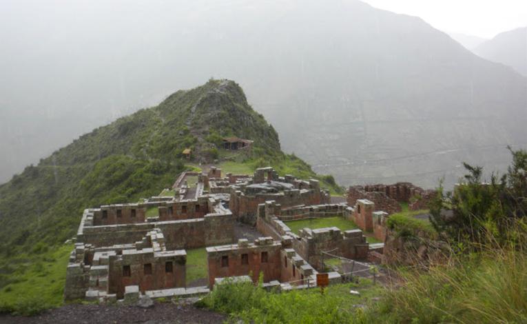 Ruins in Pisaq in the Sacred Valley, Peru
